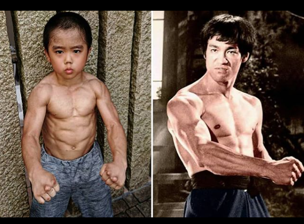 自3歲因模仿李小龍爆紅後,歷經7年每日苦訓,從迷你版李小龍變身「筋肉人」震驚全網...