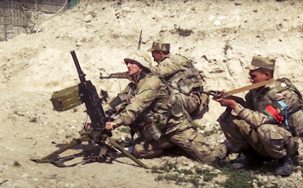 圖為亞塞拜然軍。 圖/亞塞拜然國防部