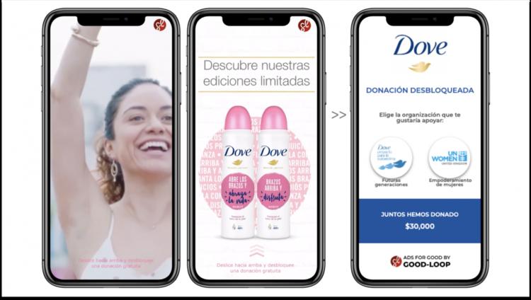 好循環為聯合利華集團的多芬品牌設計互動公益廣告。 圖/The Drum