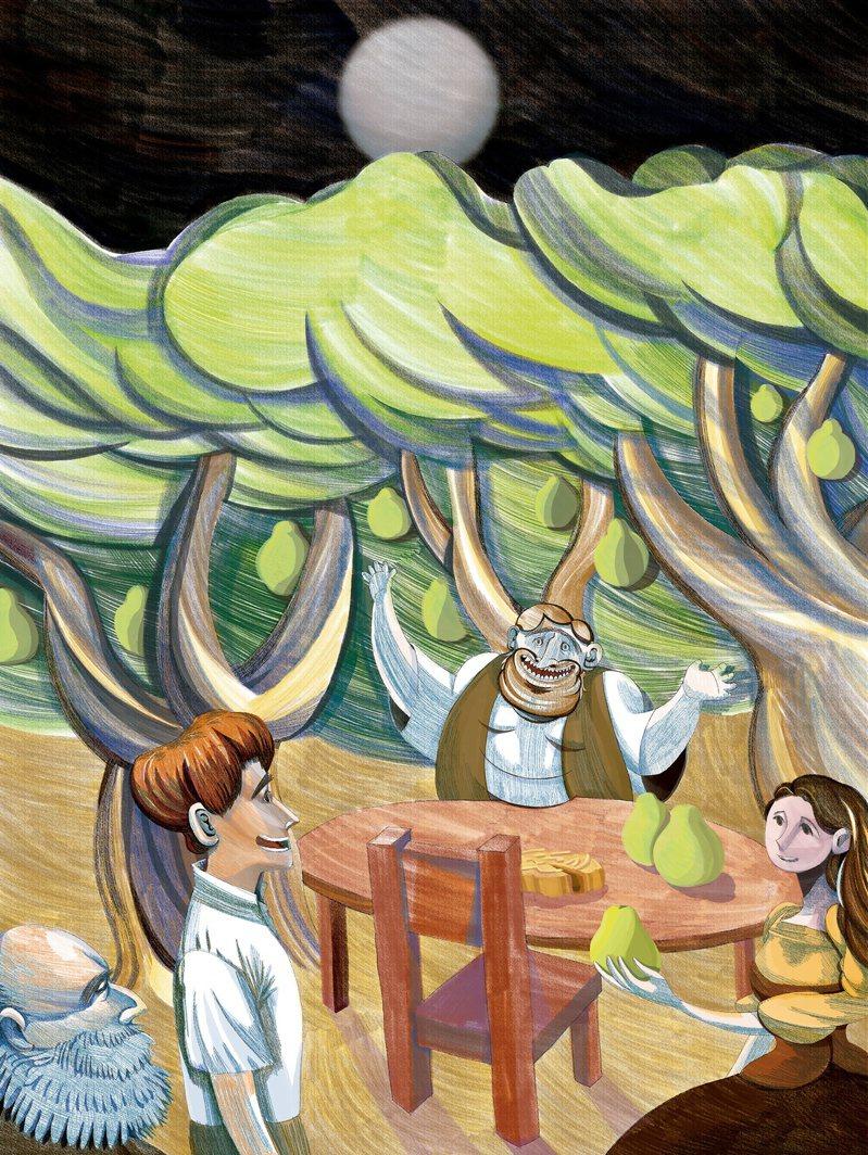 在假期時應該會覺得有點痛苦、害怕或不知所措。忙著消費、一定要喜氣洋洋的壓力,以及期盼過著諾曼.洛克威爾的插畫裡,那種完美家庭的幸福情景;這些就足以讓任何人都烏雲罩頂。圖為中秋這樣過插畫展:月圓人團圓作品。圖/李孟翰