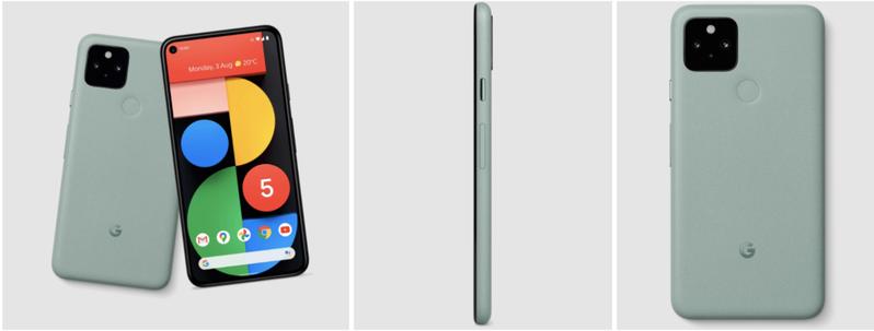 外媒爆料,Pixel 5將有黑、綠兩色。 圖擷自9to5google