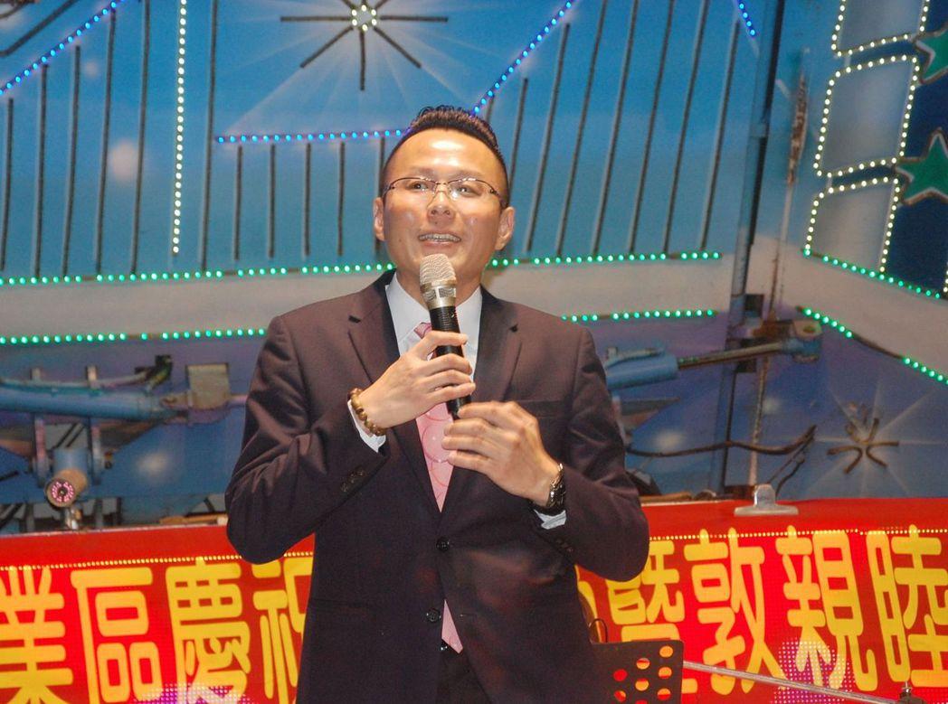 台南市安平產業園區廠商協進會理事長鄭丞焜。 莊玉隆/攝影