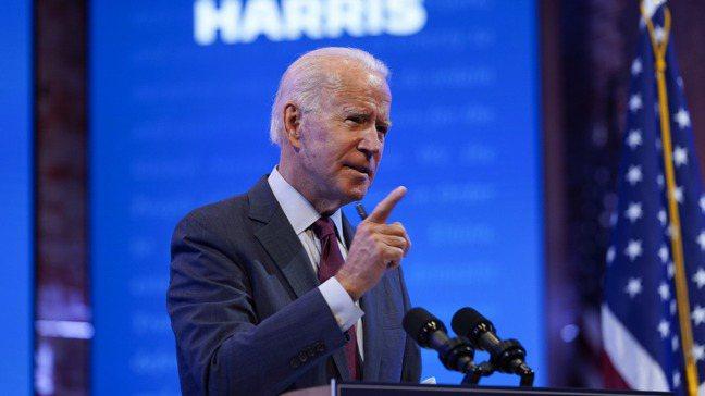 美國民主黨總統候選人拜登(Joe Biden)。圖/美聯社