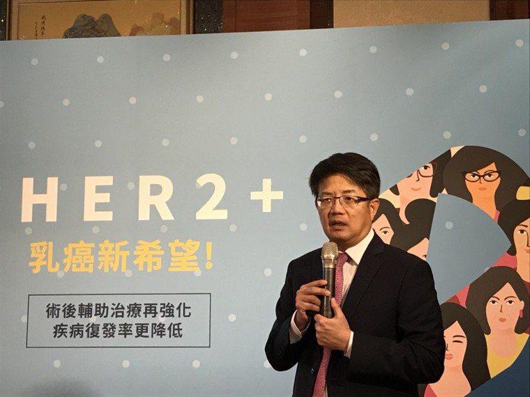 台灣乳房醫學會理事長曾令名指出,HER2陽性乳癌復發率高,除了手術治療,術後仍須...