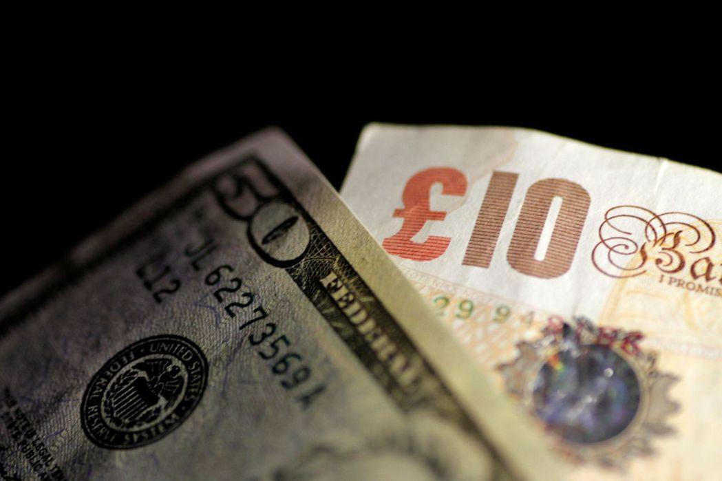 英鎊兌美元勁升0.9%,市場寄望英國能與歐盟達成脫歐貿易協議。 (路透)