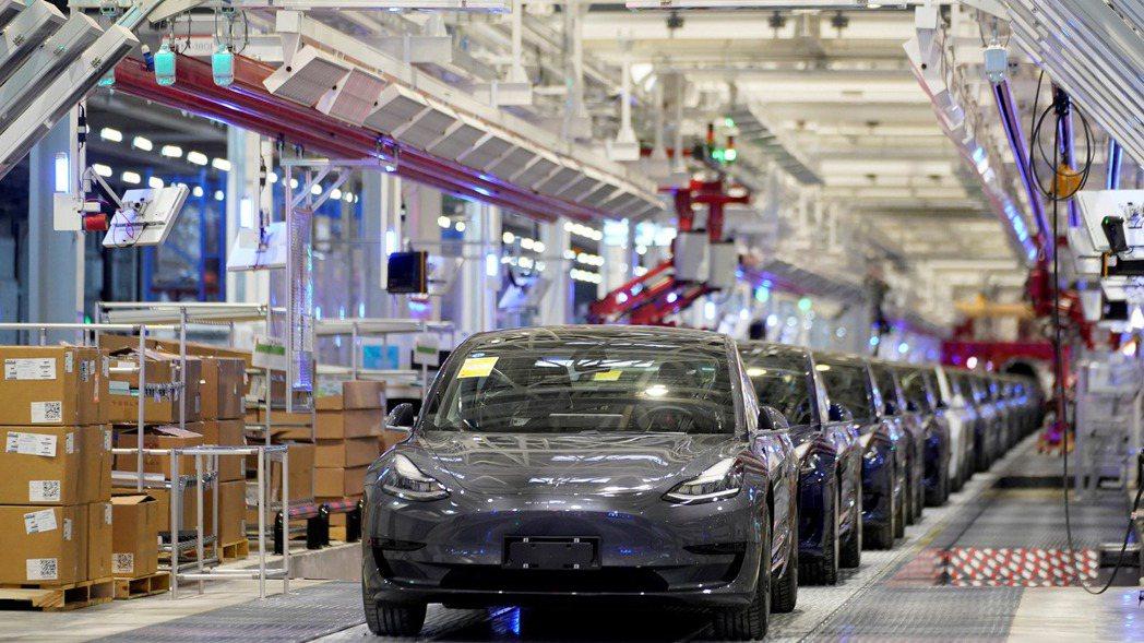 特斯拉(Tesla)上海廠。   路透