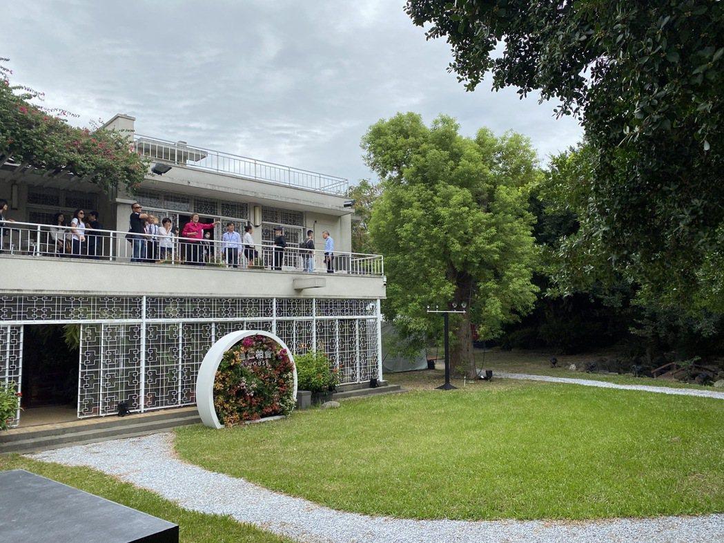 「理仁柏舍」基地曾是達新工業創辦家族的起家厝,傳統鍛造鐵窗花訴說昔日風華。記者趙...