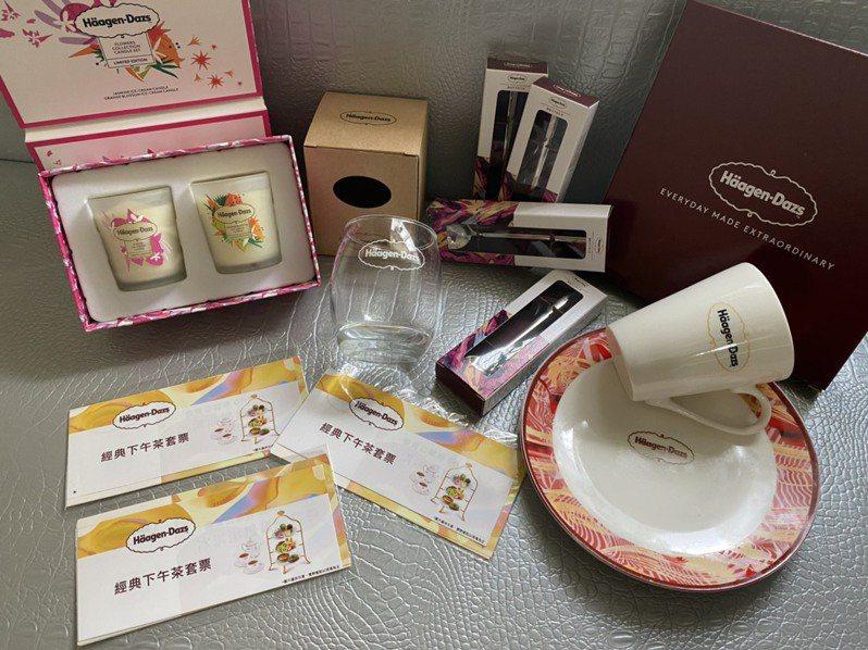 參與打卡活動,有機會獲得哈根達斯周邊產品、下午茶餐券。圖/天外天提供