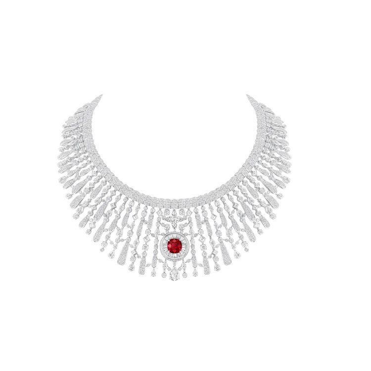 Astre Rouge紅寶石鑽石項鍊,價格未定。圖/路易威登提供