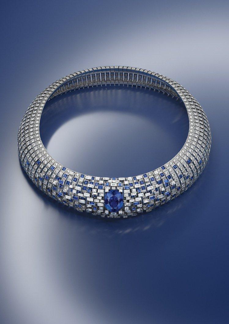 Stellar Times高級珠寶系列Lune Bleue藍寶石鑽石項鍊,價格未...