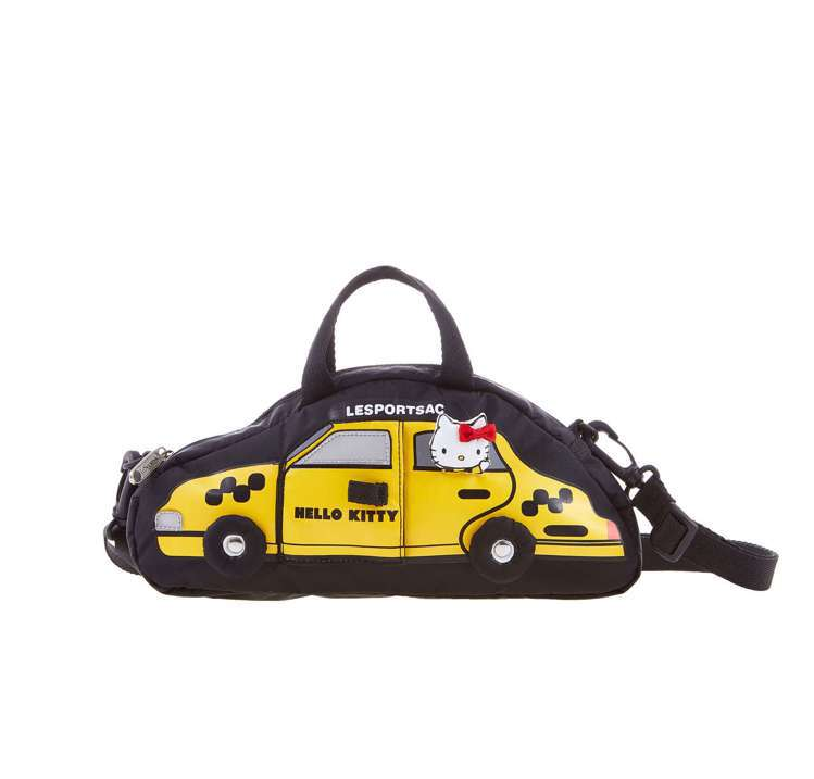 Hello Kitty出門去車型包,3,600元。圖/LeSportsac提供