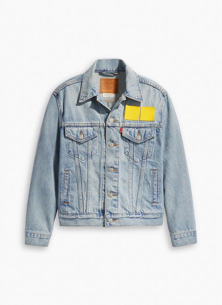 LEVI'S樂高聯名系列牛仔夾克4,590元。圖/LEVI'S提供