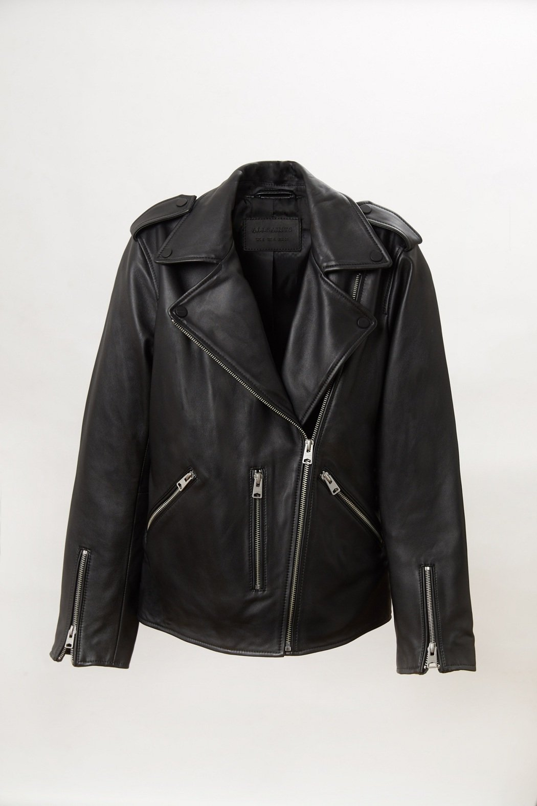 ALLSAINTS Bailey亞洲限定限量簡約騎士皮夾克原價21,300元,特...