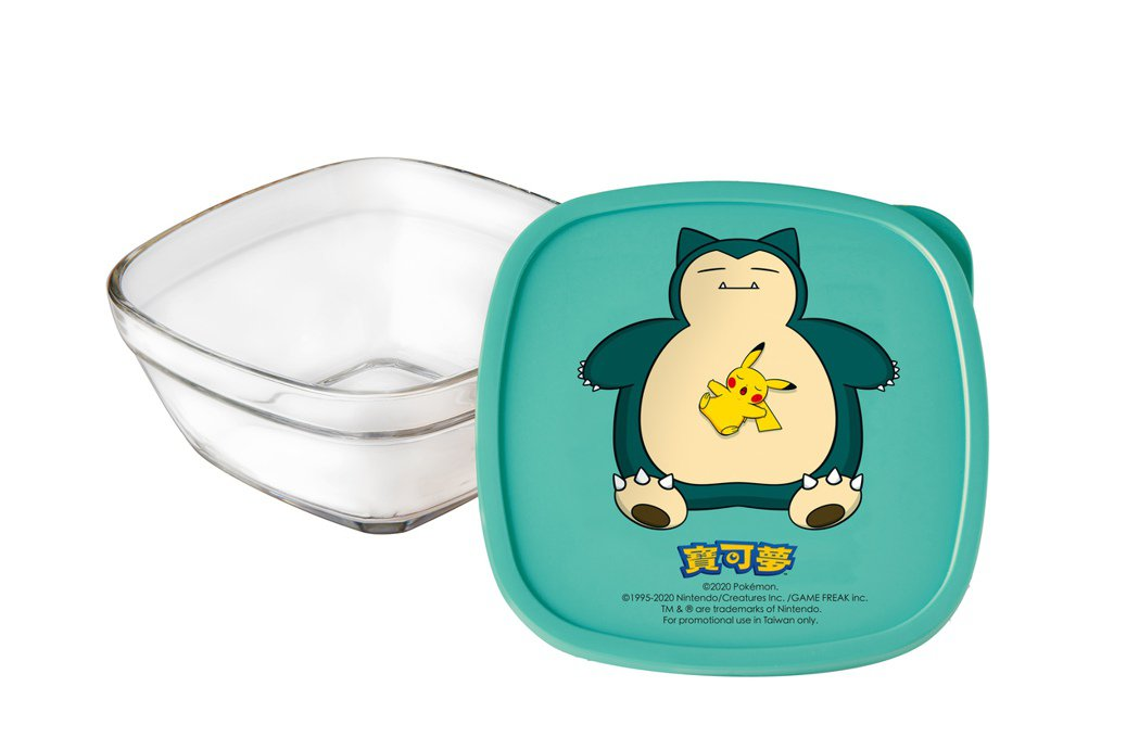 周年慶第一波卡友禮,寶可夢方形玻璃保鮮盒。圖/新光三越提供