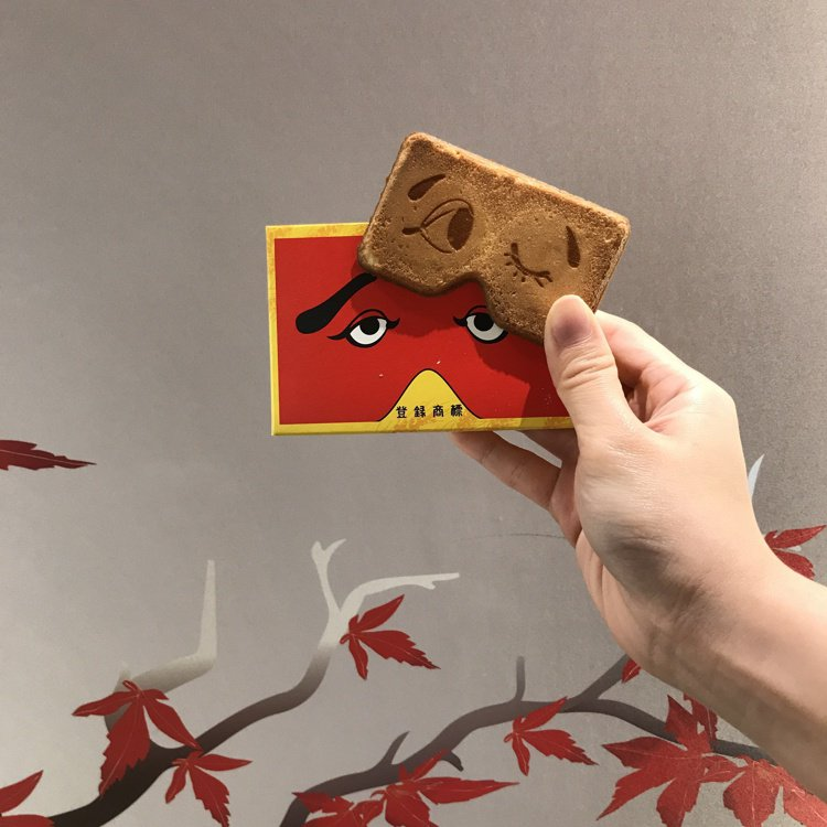 初登場「福岡二○加煎餅」,售價390元/3片*4盒。記者江佩君/攝影