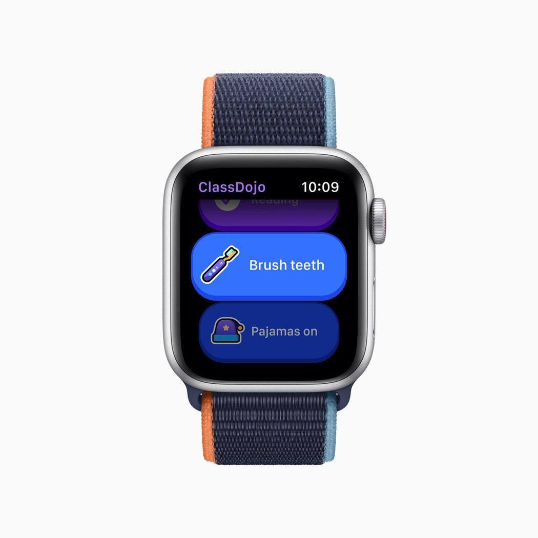 透過Apple Watch上的App Store,可下載ClassDojo、Co...