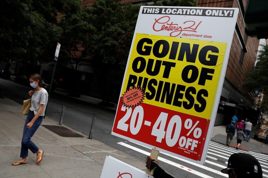 紐約市在疫情期間有將近6000家公司倒閉。路透