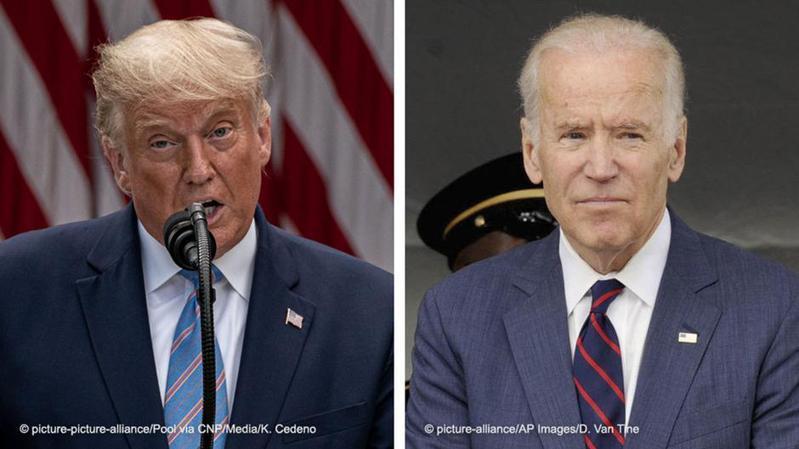 第一次美國總統電視辯論會於29日晚間(台灣時間為30日早上)舉行,川普與拜登在辯論會上唇槍舌戰,引發討論。圖/德國之聲中文網