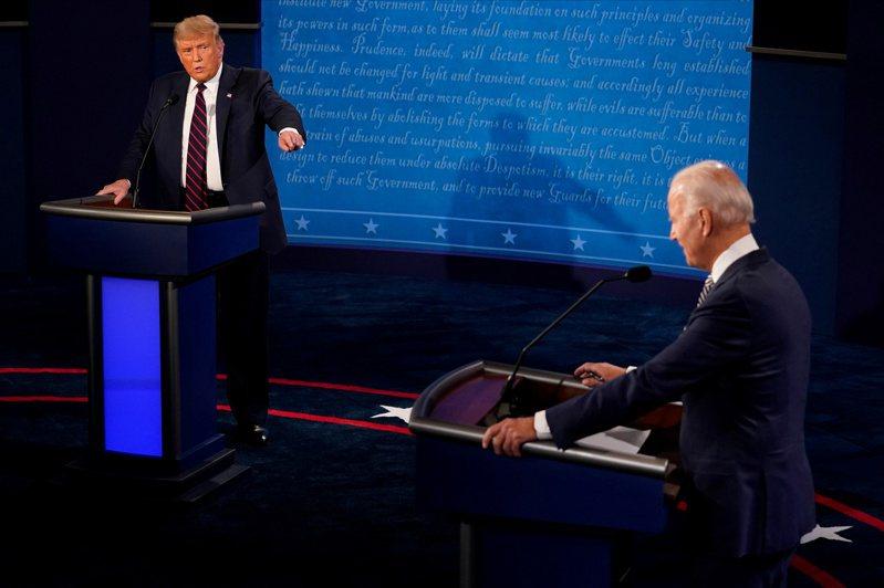 美國總統川普與總統候選人拜登在台灣時間今(30)日上午9點舉行第一場總統辯論會。路透
