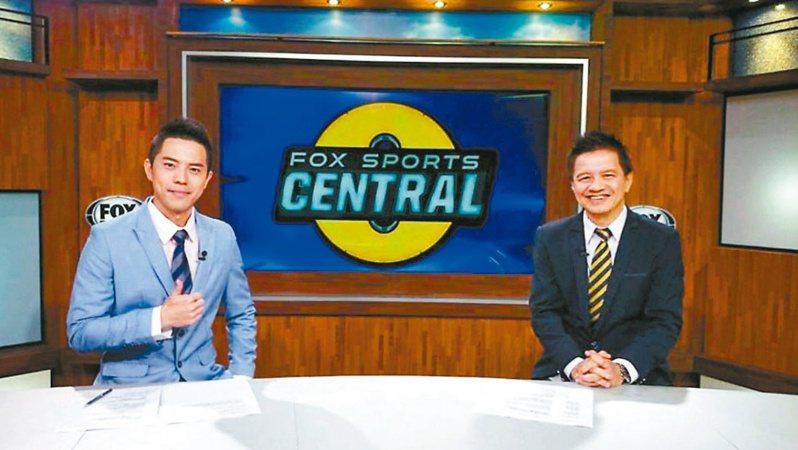 著名FOX體育台球評曾文誠(右)。 報系資料照