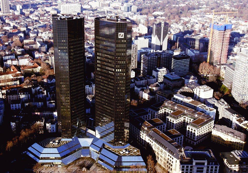 德銀法蘭克福總部的資料照片。 圖/美聯社