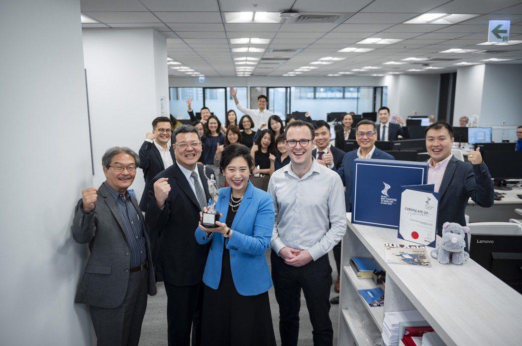哥本哈根風能開發勇奪HR Asia亞洲最佳企業雇主獎。 CIP/提供