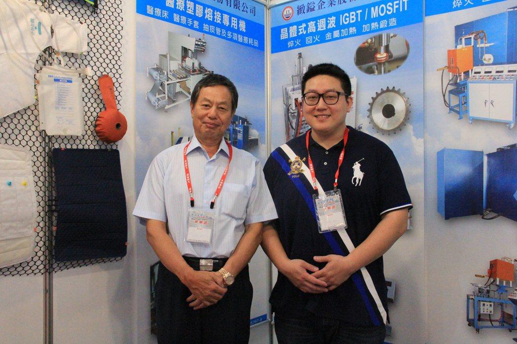 緻鎰企業董事長林丙丁(左)及負責產品推廣得力助手林家緯(右)。 戴辰/攝影