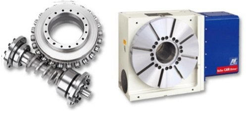歐權科技研發之滾齒凸輪及產品NC旋轉軸(AT)。 中科管理局/提供