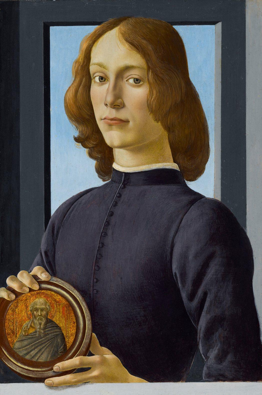 文藝復興大師波提且利畫作「手持圓形聖像的年輕男子」,估價逾24億台幣。圖/蘇富比...