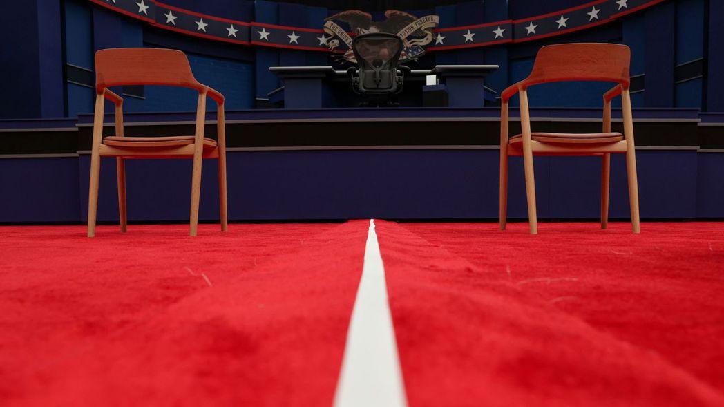 市場關注的總統候選人首場面對面辯論,將於周二晚上播出。 (路透)