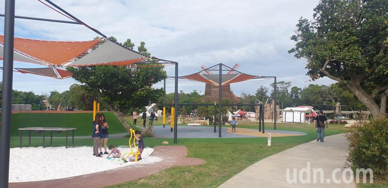 大甲鐵砧山雕塑公園二期工程完工,今天啟用。記者游振昇/攝影