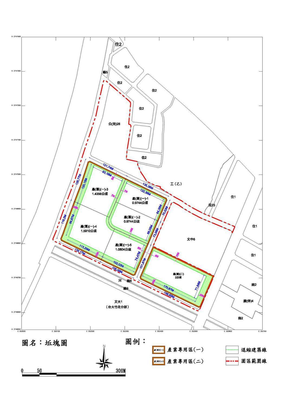 國際AI智慧園區基地坐落竹北市莊敬北路,開發面積約12.61公頃,規畫產業專用區...