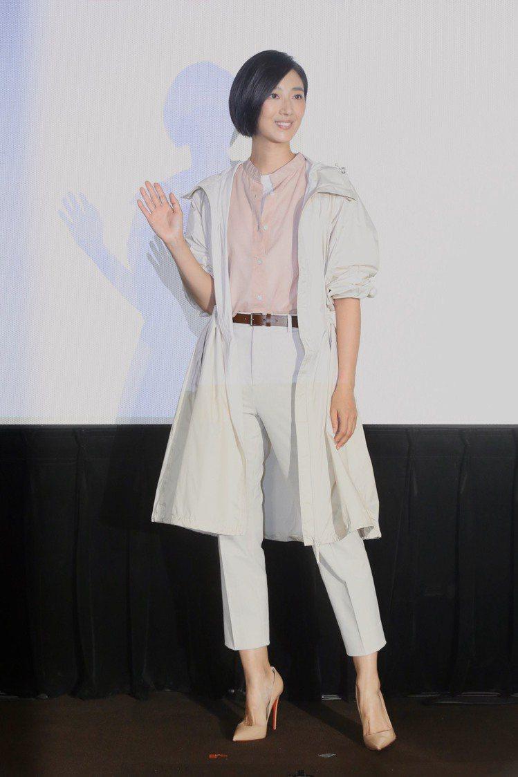 桂綸鎂為UNIQLO來台10周年活動站台。記者林俊良 /攝影