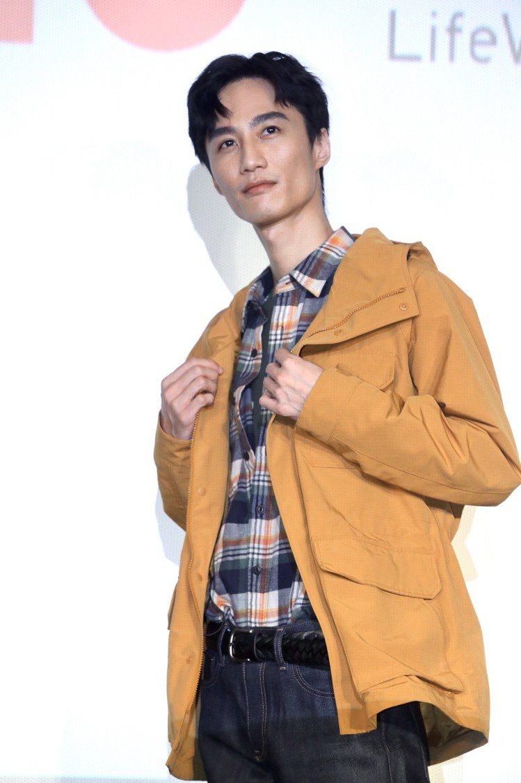 李英宏為UNIQLO來台10周年活動站台。記者林俊良 /攝影