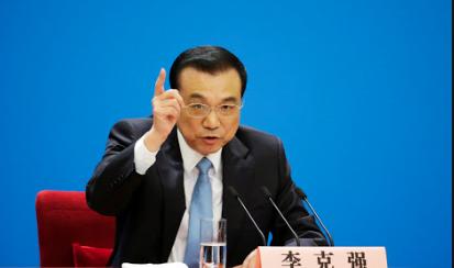 中共總理李克強。(新浪微博照片)