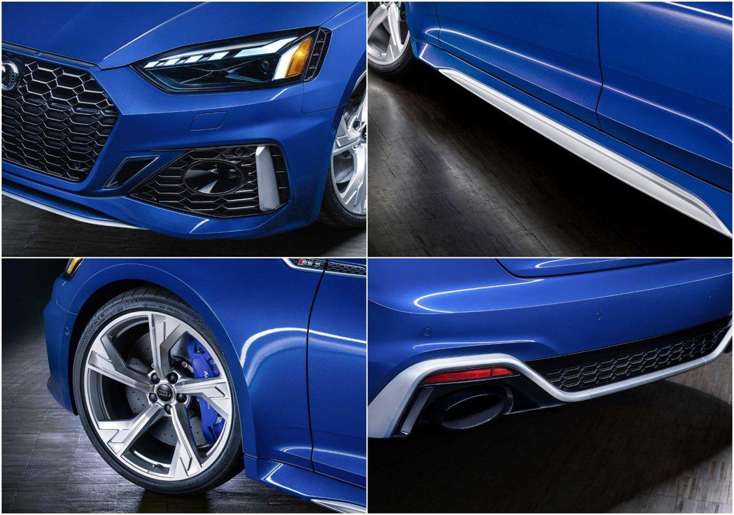 新年式的RS5在外觀細節上都有許多更新。 摘自Audi