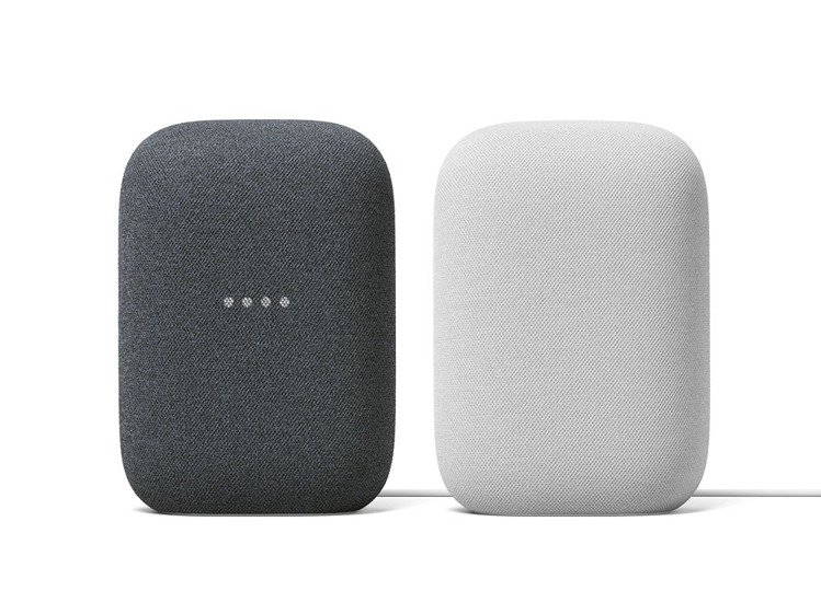 全新智慧音箱Nest Audio,將在台推出石墨黑與粉炭白2色。圖/Google...