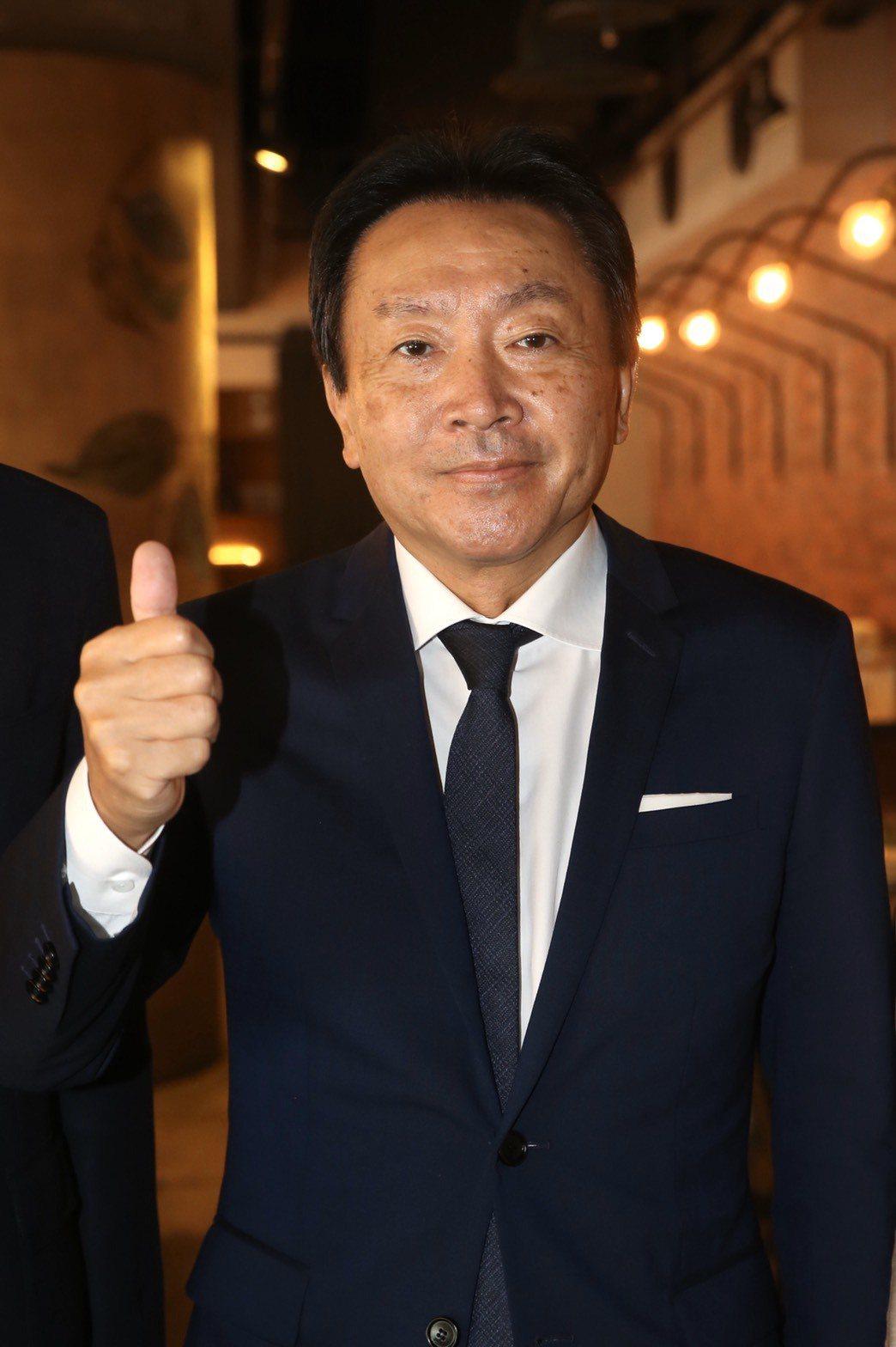 新光三越新任董座村上英之今(1)日出席南西店週年慶,這也是他首度公開亮相。記者林...