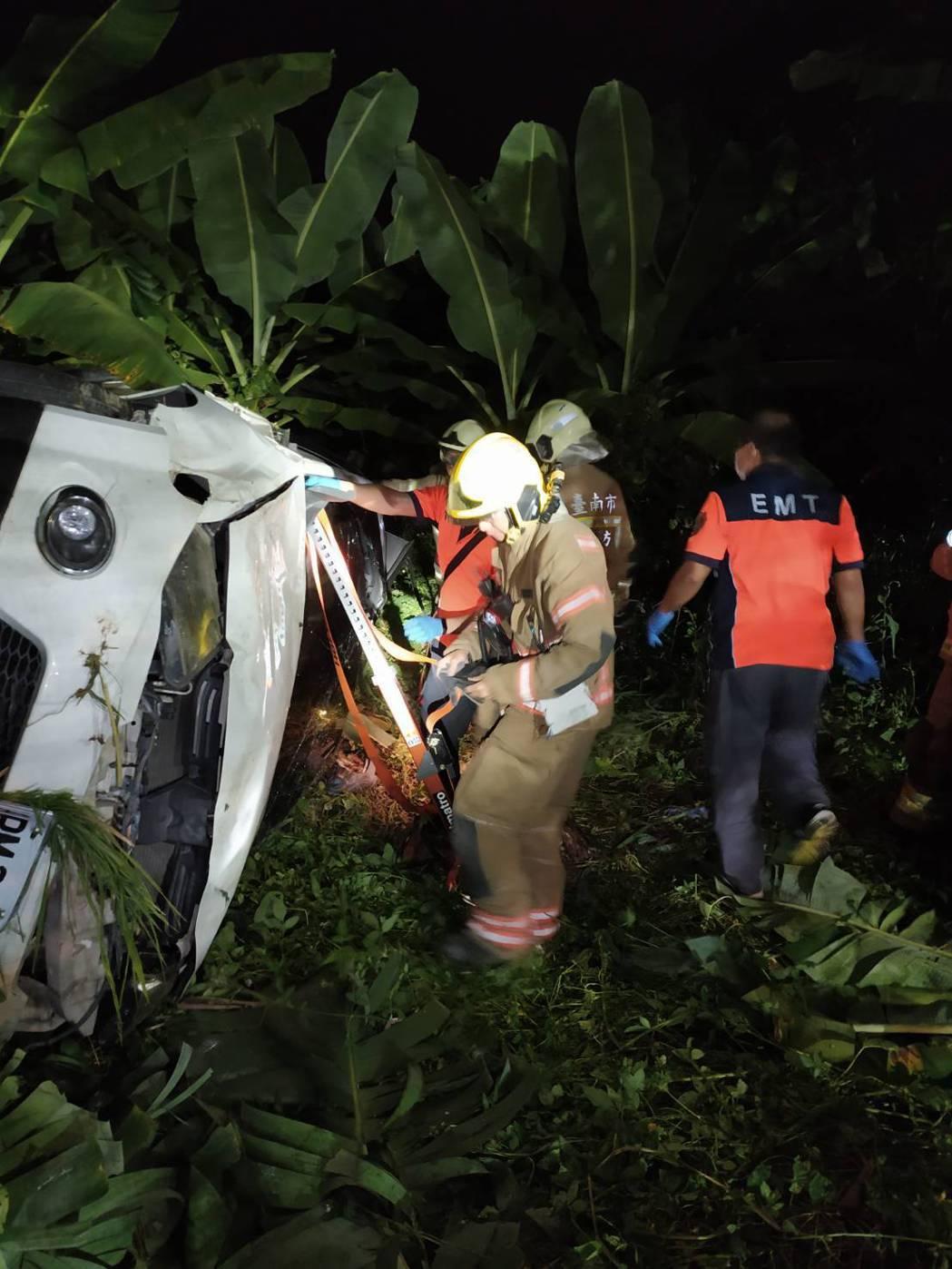 檢方會同法醫相驗,發現死者身上有嚴重壓痕,佐以事故現場死者是被壓在翻覆的車輛下,...