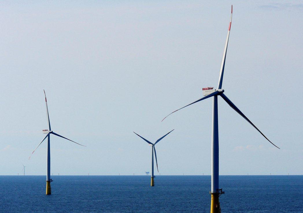 圖為丹麥Esbjerg以西90公里的DanTysk離岸風場。  路透