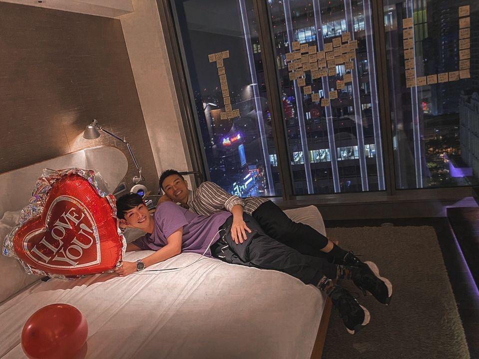 晨翔與賴先生交情很好。圖/摘自臉書