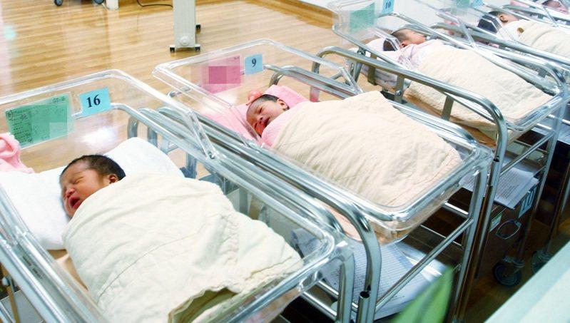 台大社會系教授薛承泰分析,今年全年新生兒已篤定將少於17萬,不僅人口自然成長將面臨死亡交叉,出生人數也恐創歷史新低,預估今年新生兒人數將落在16.5萬人左右。圖/聯合報系資料照片