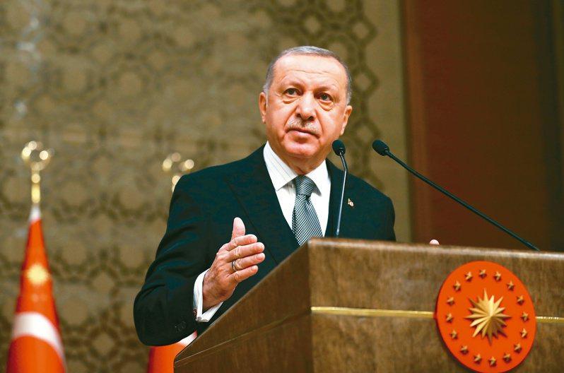 土耳其總統厄多安決定恢復地中海東部天然氣探勘。(美聯社)