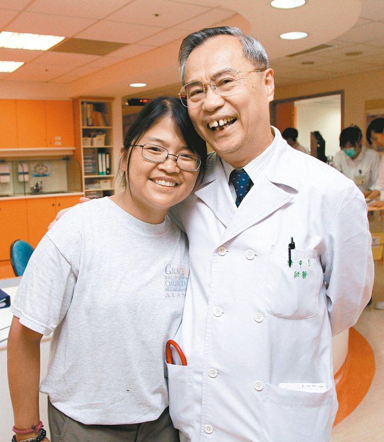 兒童癌症基金會董事長林東燦(右)。圖/聯合報資料照