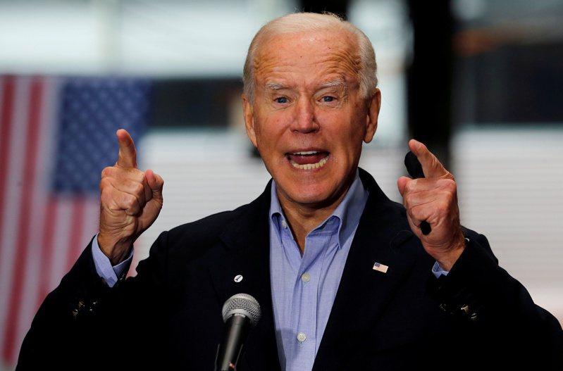 美國民主黨總統候選人拜登。 路透社