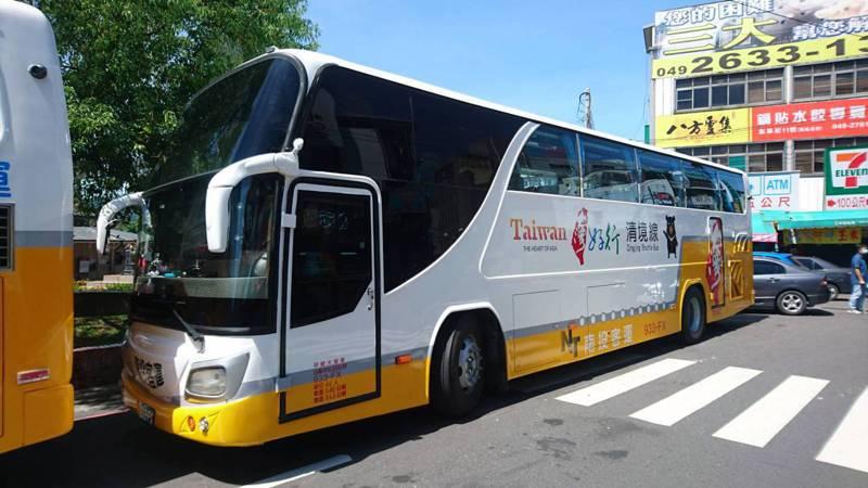 台灣好行在南投縣「五路齊發」直通各個景點,觀光處鼓勵遊客搭乘大眾交通工具,同時分散車潮。記者黑中亮/攝影