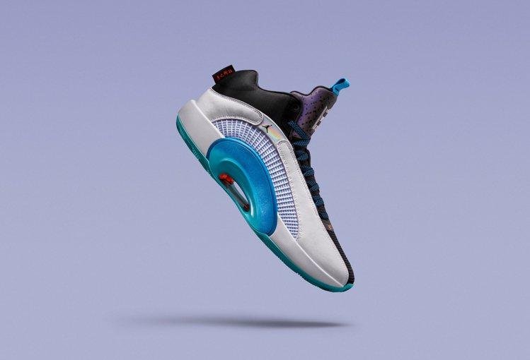 Air Jordan XXXV Morpho鞋,配色靈感源於閃蝶美麗的藍綠色身影...