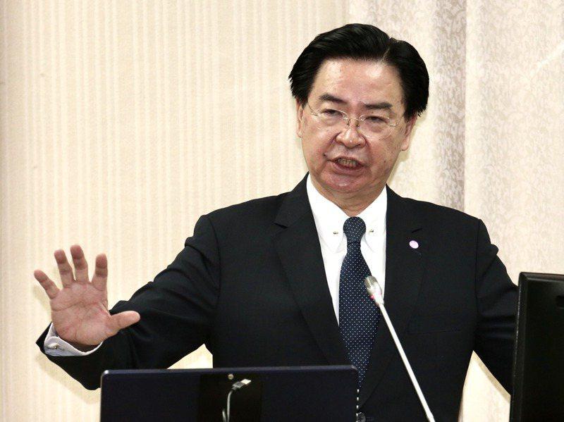 美國國家公共電台(NPR)22日專訪外交部長吳釗燮(圖)稱,在這個時間點,台灣不會尋求與美國建立全面外交關係。圖/聯合報系資料照片