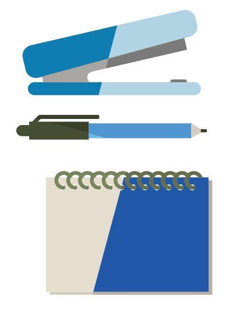 用藍色文具能提升工作效率 圖/123RF