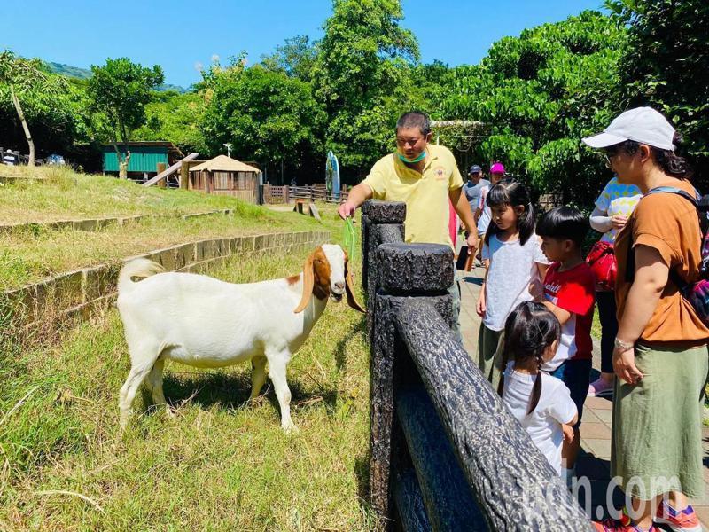 中秋連假兩天來,高雄壽山動物園遊園人數和平時假日差不多,未明顯增加,遊園的親子反有空間與動物親近。圖/壽山動物園提供